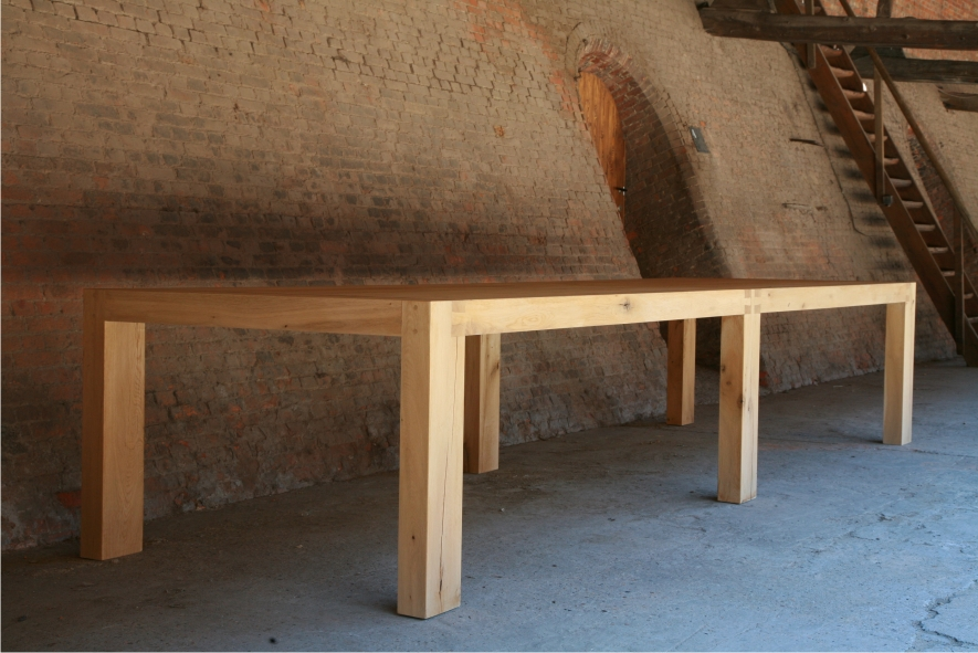 Magnus solid oak table from St-Paul Home design by Ann Coen