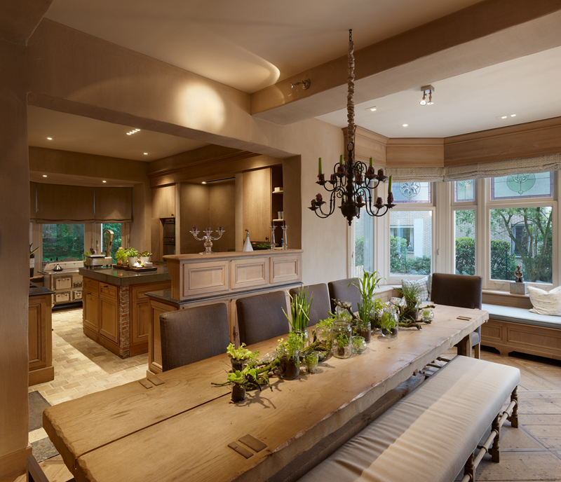 't Wit Huys ter Miereyck Kitchen design by Ann Coen and solid oak table by St-Paul Home